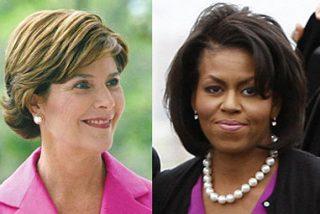 Michelle Obama y Laura Bush hacen buenas migas