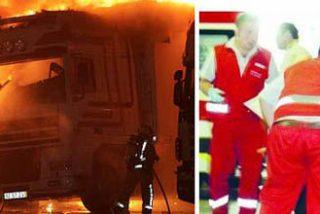 """El camionero quemado por piquetes ironiza: """"Mis heridas son muestras del compañerismo"""""""