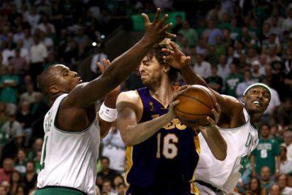 Los Celtics dejan a Gasol sin anillo