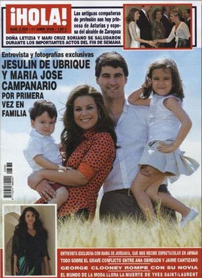 Jesulín de Ubrique y María José Campanario posan junto a sus dos hijos