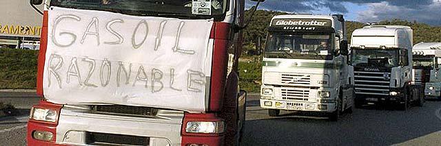 Los camioneros marchan hacia Madrid