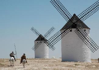 Don Quijote vuelve a luchar con gigantes