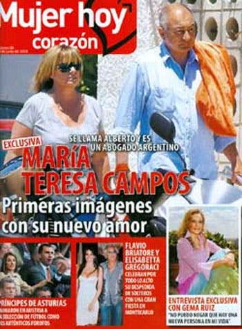 Primeras imágenes de Mª Teresa Campos con su nuevo amor