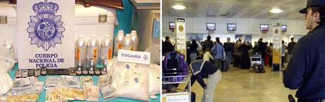 Detenida una red que introducía cocaína por Barajas liderada por un subinspector de Policía