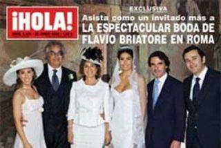Los Aznar, en la exclusiva boda de Briatore