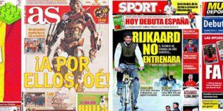La prensa, expectante ante el debut de España