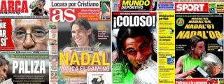 Nadal acapara las portadas de los diarios deportivos