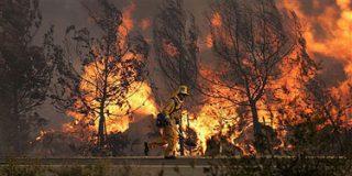 10.000 personas evacuadas por el fuego en el norte de California