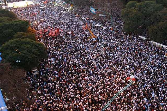 El conflicto del campo colapsa Buenos Aires