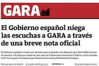 El diario proetarra Gara denuncia que sus teléfonos están pinchados