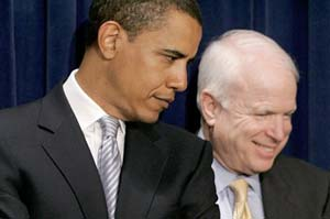 McCain acorta distancias con Obama