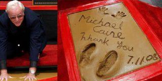 Michael Caine graba sus huellas en Hollywood