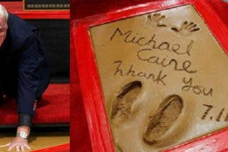 Michael Caine graba sus huellas en Hollywood