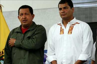 Rafael Correa visitará Venezuela la próxima semana