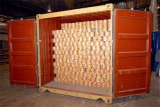 Incautan un alijo de 4,4 toneladas de éxtasis en latas de tomate