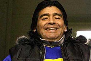 Maradona llega a Shanghai para apoyar a la selección argentina