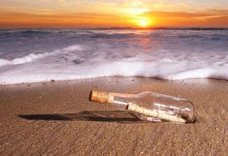 Encuentran un mensaje en una botella lanzada al mar hace 23 años