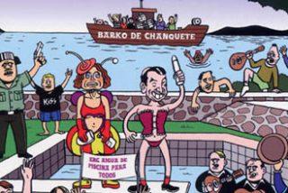 Se presentan en burro a pagar una multa de 200 euros por denunciar la piscina ilegal de Pedrojota