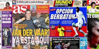 Van der Vaart abre las portadas