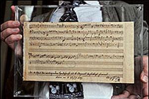 Descubren una pieza inédita de Mozart