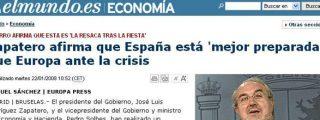 El sistema se desploma y Zapatero sonríe