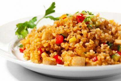 Receta de arroz con verduras y magro paso a paso