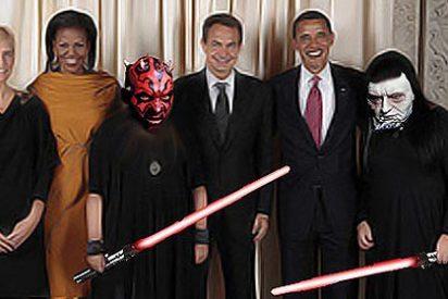 'La familia Monster visita a Obama'