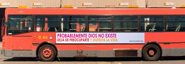 El 'bus ateo' llega a Barcelona