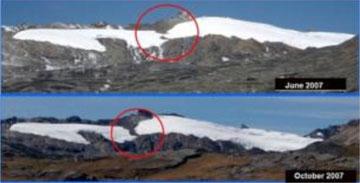 Desaparece el glaciar Quilca, ubicado en la frontera entre Perú y Bolivia