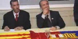 Laporta suprime la cruz de Sant Jordi del escudo del Barça en una visita oficial a Tetuán