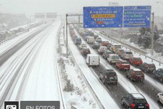 La nieve colapsa Madrid
