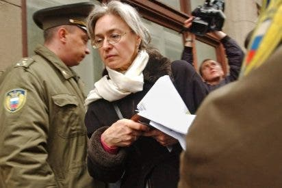 Homenaje a Politkóvskaya tres años después de su muerte