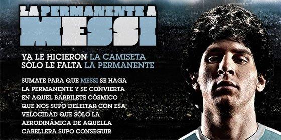 Una web argentina pide apoyo para que Messi se rice el pelo