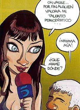 Pilar Rubio en la viñeta de El Jueves: ¿Dónde tengo que mamar?