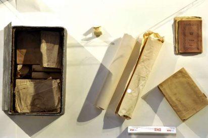Una cápsula del tiempo encontrada en Madrid contiene tomos del Quijote de 1819