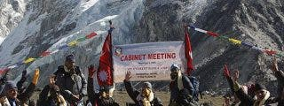 Consejo de Ministros a 5.000 metros para alertar sobre el cambio climático