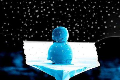 Crean el muñeco de nieve más pequeño del mundo