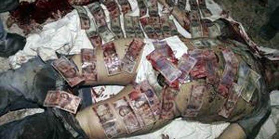 La Policía ordenó colocar los billetes sobre el cadáver del capo Beltrán Leyva