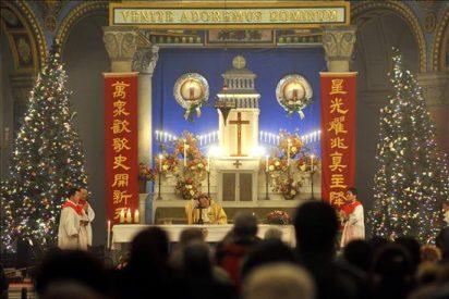 Los católicos chinos abarrotaron las iglesias en la misa de Navidad