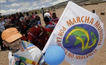 La Marcha Mundial por la Paz hace una escala en Chile