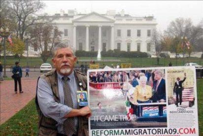 Un mexicano inicia una huelga de hambre frente a la Casa Blanca