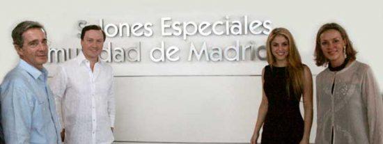 Gabriel Fernández Rojas, Shakira y Álvaro Uribe inauguran en Barranquilla un colegio financiado por la Comunidad de Madrid