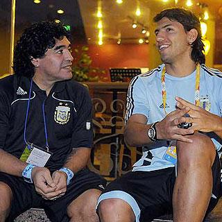 Maradona ya es abuelo (y el 'Kun' Agüero, padre)