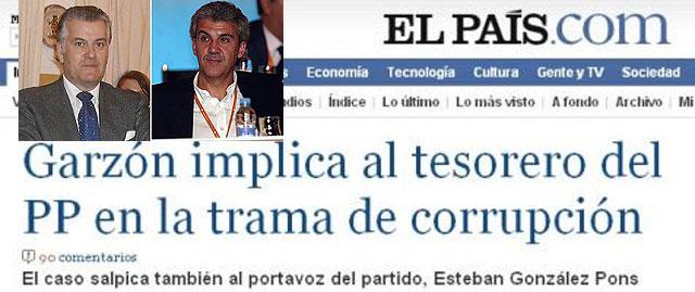 """Garzón desmiente """"rotundamente"""" a El País y a la SER y niega que González Pons esté imputado"""