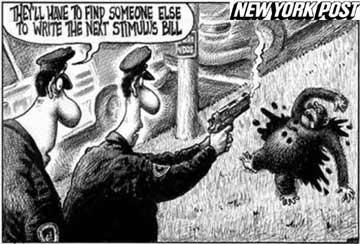 El New York Post se disculpa por la caricatura del chimpancé