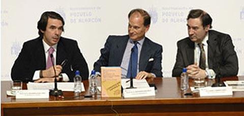 Aznar y Pedrojota elogiaban al alimón a Sepulveda, el del Jaguar por la cara