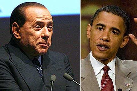"""Berlusconi: """"Soy más blanco que Obama, pero él es más guapo"""""""