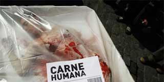 Carne humana en bandeja