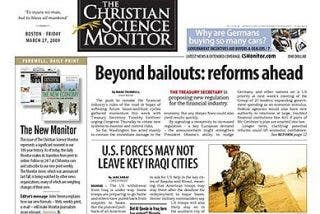 El último ejemplar del diario The Christian Science Monitor... en papel