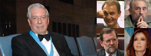 "Vargas Llosa cree que ZP es la ""puta triste"" de Fidel Castro"
